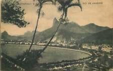 Postcard Botafogo E Corcovado, Rio de Janeiro, Brazil - used in 1923
