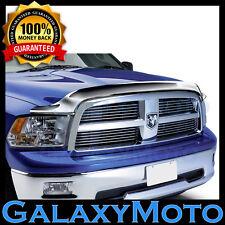 09-16 Dodge RAM 1500 TRUCK Chrome Bug Shield Air Deflector Hood Guard Protector