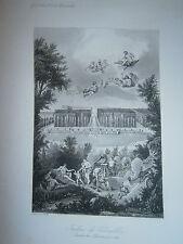 Lot de 2 Gravure 19°  Les jardin du chateau de Versaille 1688 Labyrinthe ect