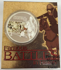 2009 Famous Battles in History The Battle of Hastings 1066 1oz Silver Proof coin