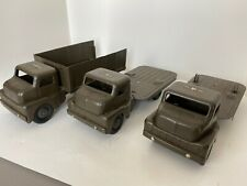 Vintage Structo Toys Pressed Steel Military Missile Army Trucks in set of 3