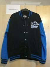 Ecko Unlimited Mens Black/Blue Varsity Jacket - Size Small - Very Good Condition