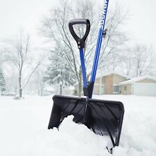Strain-Reducing Snow Shovel w/Spring Assisted Handle