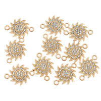 10 pcs Alloy Sun Flower Beads Pendant Gold Charms DIY Bracelet Jewelry Making