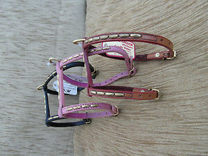 leather harness in 3 colours