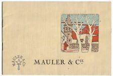 Ancien Petit Livret Champagne MAULER & Cie
