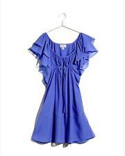 °H&M- Robe courte légère fluide bleue collection garden party T36 TBE°PAS PAYPAL