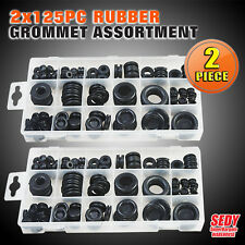 2x 125 Rubber Grommet Assortment Fastener Kit 250pc Blanking SDY-19003