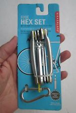 FIXIE HEX SET ACCESSORIES KEYRING CLIP BIKERS BIKE CYCLIST 6 BALL & HEX KEYS NEW