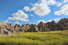 Grassy Meadow in Badlands S.D.  Photo Art Wall Decor Family, Room, Den, Kitchen