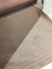 16m Job Lot Clearance Chocolate Striped Voile, Free P+P,