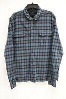 All saints men's XXL Arcade Ls shirt cotton plaid casual long sleeve  button up