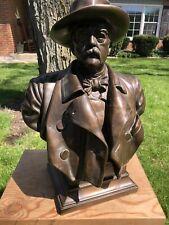 1894 HARRO MAGNUSSEN Portrait Bust of OTTO VON BISMARCK Bronze Copper Casting