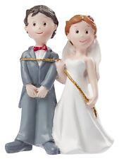 Hochzeitspaar mit Seil Figur DEKO Brautpaar Tortendeko Bräutigam braut 8 Cm
