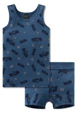 Schiesser Niños Muda 2 Paquete Camisa + Pantalones Cortos Carreras Gr 104-140