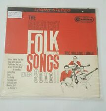 The Wilcox Three Greatest Folk Songs Ever Sung VG+ LP Record RCA Camden CAS 669