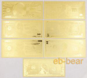 Lots 70 Pcs 10 Sets U.S. dollar Gold Banknote Notes Unusual Beautifully Crafts
