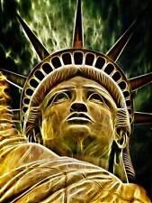 Fotografia Composizione Statua Liberty Luce Effetto Poster Art Print bb12646b
