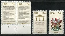 SOUTH AFRICA 1984, LAW: NEW CONSTITUTION, Scott 638-641, LOT OF 5 SETS, MNH