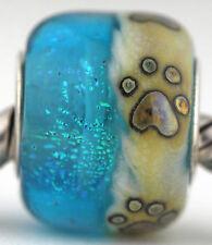 BEACH PAW PRINTS Mandy Ramsdell sterling silver european charm bead murano glass