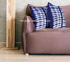 "Indian Tie Dye Shibori Cushion Cover Stripe Design Sham Cotton Throw Decor 16"""