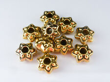 20 x Puffy Star Flower Spacer Beads Antique Gold 9mm Beads Findings LF NF (MB88)