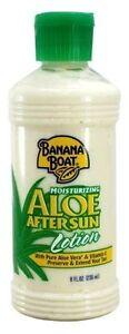 Banana Boat Moisturizing Aloe After Sun Lotion, 8 oz (2 Pack)
