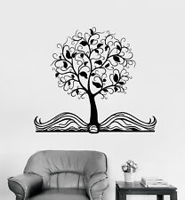 Vinyl Wall Decal Open Book Magic Tree Fairy Tale Children's Room Stickers 1826ig