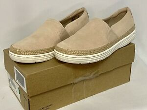 Clarks Womens Marie Sail Closed Toe Loafers Blush Suede Shoes UK 5 BRAND NEW