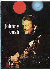 1972 Johnny Cash concert program tour book Man In Black