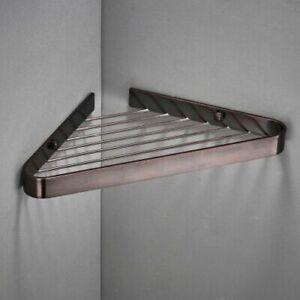 Bathroom Shower Rack Holder Corner Shelf Brass Caddy Wall Mounted Bath Shelves