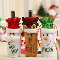 Christmas Santa Wine Bottle Gift Bag Ornaments Cover Xmas Home Party Decor Hot