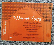 Selections from The Desert Song - Sigmund Romberg: 5 Pieces PVG (Easy Piano)