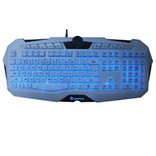 Pc Wired Gaming Keyboard Game USB LED Backlight Illuminated for Notebook Laptop
