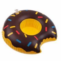 Chocolate Donut Inflable Bebida Taza Soporte Hot Bañera Piscina Playa Fiesta