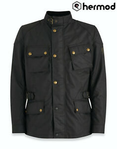 Belstaff Crosby Tek Wax Cotton Motorcycle Jacket - Black