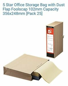 25 x File Away Archive Storage Bags Cases with Tie Lace- 297323