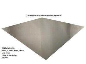1mm Aluminiumblech mit einseitiger Schutzfolie Glattblech Zuschnitt 25x1000