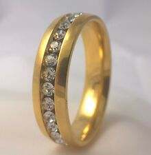 G-Filled Men's 18kt yellow gold simulated diamond wedding ring 6mm band bling 10