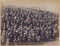 Egitto Abdullah Spettatori Fellaheen Vicino Yateh Khedivè Vintage Ca 1880