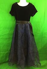 Amy Byer California Semi Formal Blue And Black Holiday Dress Size 10