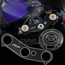 Handle Yoke Cover+Fuel Cap Gel Protector for 06+ Yamaha YZF R6 Carbon Fiber Look