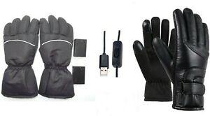 Elektrisch Heated Gloves Windproof Warm Fleece Touch Screen Outdoor Sports