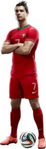 WALL STICKERS FOOTBALL Player Cristiano Ronaldo with the ball Decal Sticker