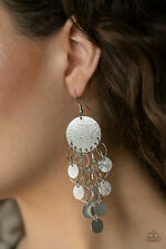 """NEW PAPARAZZI """"TURN ON THE BRIGHTS"""" SILVER EARRINGS"""