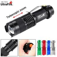 Ultrafire SK68 3500 LM CREE Q5 14500 AA ZOOM LED Flashlight MINI Police Torch T+