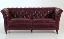 Barnsley 2 5er Sofa Chesterfield Couch Leder rot