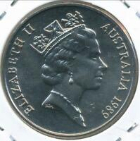 Australia, 1989 Twenty Cents, 20c, Elizabeth II - Gem Uncirculated