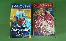ISABELLA BRADFORD * 2 Historical Romance Paperback Books