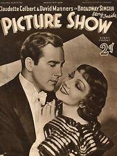 PICTURE SHOW, 31 March 1934, Claudette Colbert, David Manners, Jack Hawkins   *